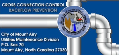 Cross Connection Control Backflow Prevention Banner