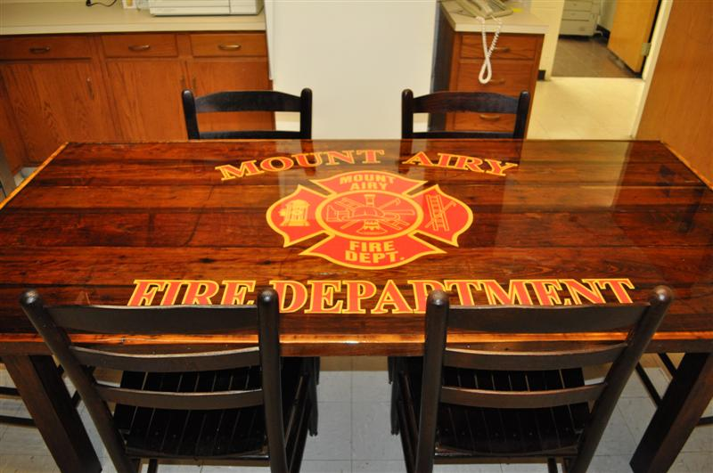 Fire House Kitchen Table Made by the Firefighters