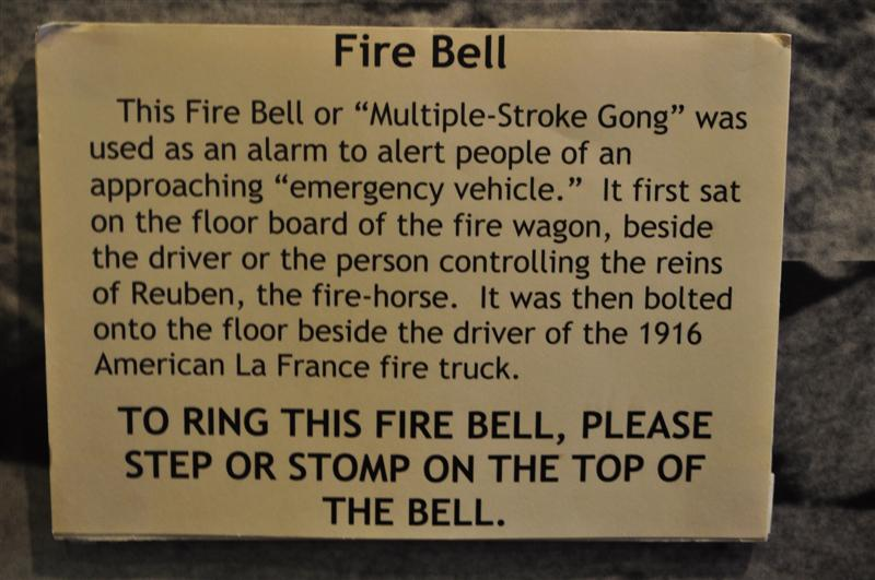 Fire Bell Exhibit Plaque