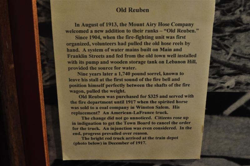 Old Reuben Exhibit Plaque
