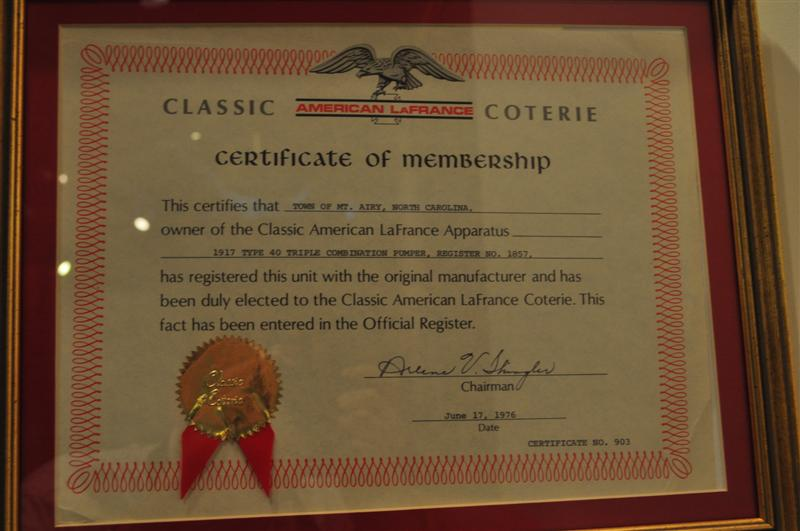 Certificate on Exhibit