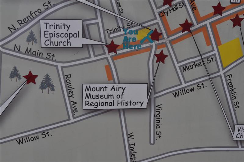 Mount Airy Museum of Regional History Map