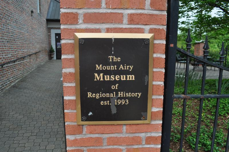 Mount Airy Museum Plaque