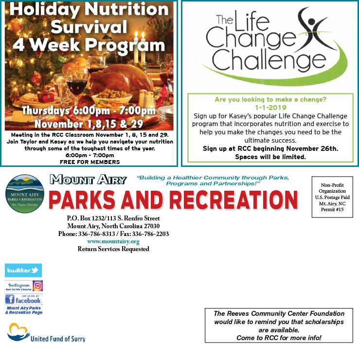 Parks Recreation Mount Airy Nc Official Website