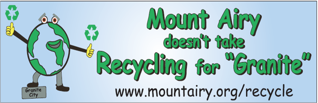 Mount Airy doesnt take recycling for granite